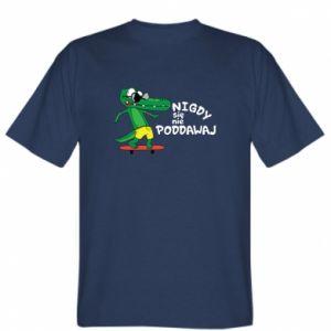 T-shirt Never give up, with crocodile - PrintSalon