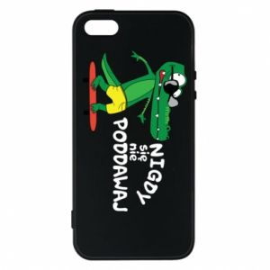 Phone case for iPhone 5/5S/SE Never give up, with crocodile