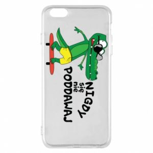 Phone case for iPhone 6 Plus/6S Plus Never give up, with crocodile