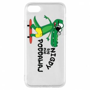 Phone case for iPhone 8 Never give up, with crocodile