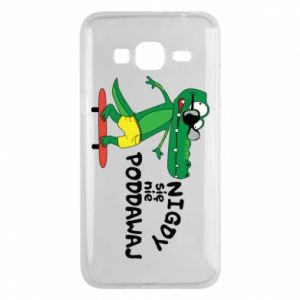 Phone case for Samsung J3 2016 Never give up, with crocodile