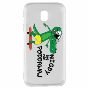 Phone case for Samsung J3 2017 Never give up, with crocodile