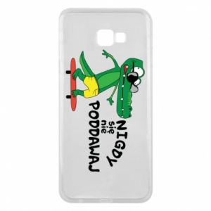 Phone case for Samsung J4 Plus 2018 Never give up, with crocodile
