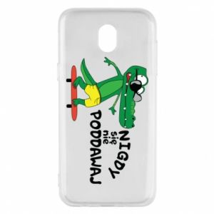 Phone case for Samsung J5 2017 Never give up, with crocodile