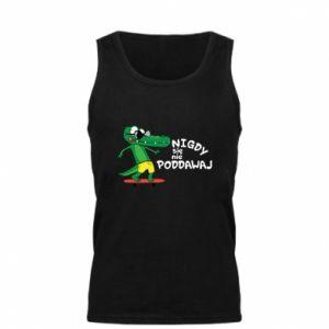 Men's t-shirt Never give up, with crocodile - PrintSalon