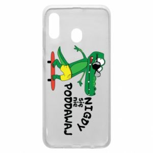 Phone case for Samsung A20 Never give up, with crocodile