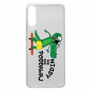 Phone case for Samsung A70 Never give up, with crocodile