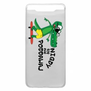 Phone case for Samsung A80 Never give up, with crocodile