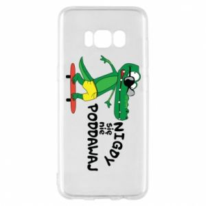 Phone case for Samsung S8 Never give up, with crocodile