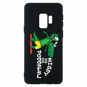 Phone case for Samsung S9 Never give up, with crocodile