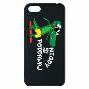 Phone case for Huawei Y5 2018 Never give up, with crocodile