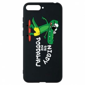 Phone case for Huawei Y6 2018 Never give up, with crocodile