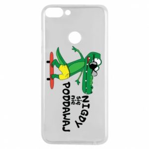 Phone case for Huawei P Smart Never give up, with crocodile
