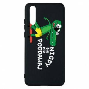 Phone case for Huawei P20 Never give up, with crocodile