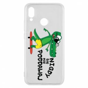 Phone case for Huawei P20 Lite Never give up, with crocodile