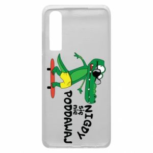 Phone case for Huawei P30 Never give up, with crocodile