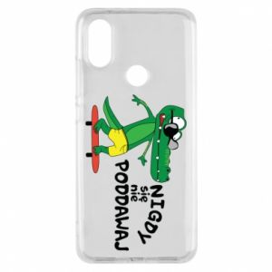 Phone case for Xiaomi Mi A2 Never give up, with crocodile