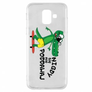 Phone case for Samsung A6 2018 Never give up, with crocodile