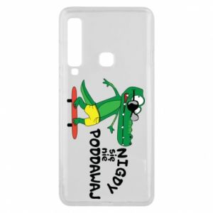 Phone case for Samsung A9 2018 Never give up, with crocodile