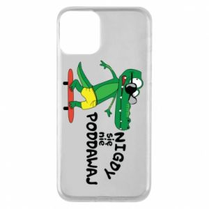 Phone case for iPhone 11 Never give up, with crocodile
