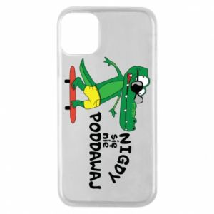 Phone case for iPhone 11 Pro Never give up, with crocodile