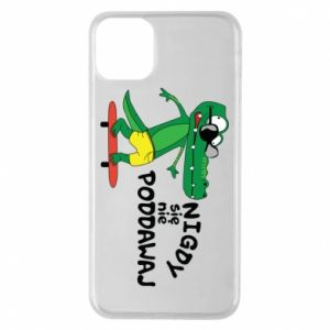 Phone case for iPhone 11 Pro Max Never give up, with crocodile