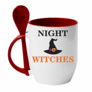 Kubek z ceramiczną łyżeczką Night witches