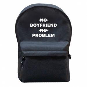 Plecak z przednią kieszenią No boyfriend no problem