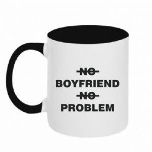 Kubek dwukolorowy No boyfriend no problem