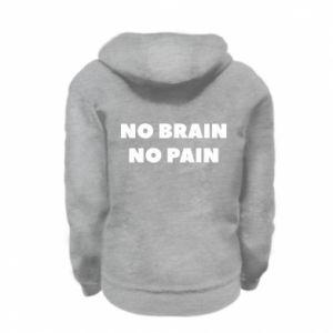 Bluza na zamek dziecięca NO BRAIN NO PAIN