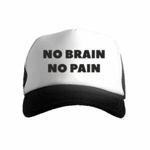 Czapka trucker dziecięca NO BRAIN NO PAIN
