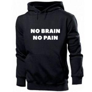 Bluza z kapturem męska NO BRAIN NO PAIN