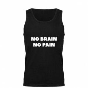 Męska koszulka NO BRAIN NO PAIN
