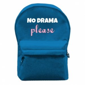 Backpack with front pocket No drama please