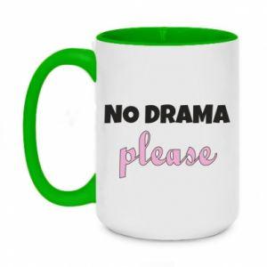 Two-toned mug 450ml No drama please