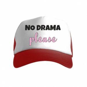 Czapka trucker dziecięca No drama please