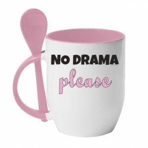 Kubek z ceramiczną łyżeczką No drama please