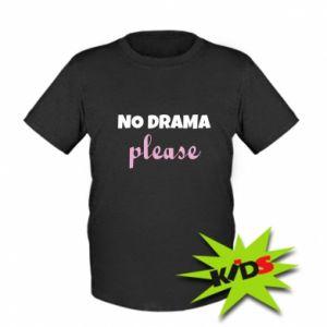 Kids T-shirt No drama please