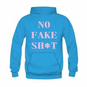 Bluza z kapturem dziecięca No fake shit