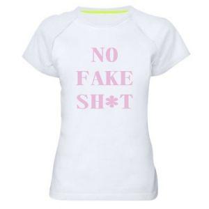 Koszulka sportowa damska No fake shit