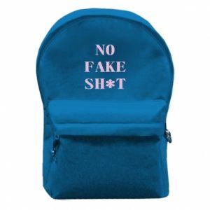 Plecak z przednią kieszenią No fake shit