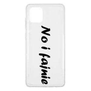 Etui na Samsung Note 10 Lite No i fajnie