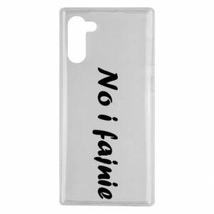 Etui na Samsung Note 10 No i fajnie