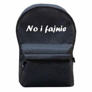 Plecak z przednią kieszenią No i fajnie