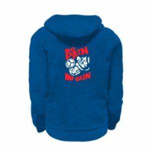 Kid's zipped hoodie % print% No pain No gain