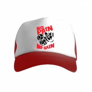 Kid's Trucker Hat No pain No gain