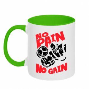 Two-toned mug No pain No gain