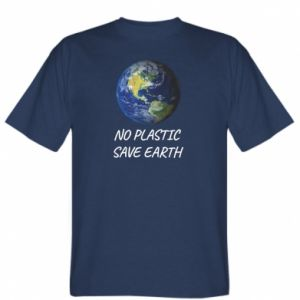T-shirt No plastic save earth