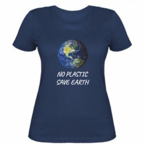 Women's t-shirt No plastic save earth