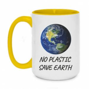 Two-toned mug 450ml No plastic save earth